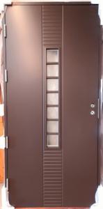 Kaskipuu FE86-tyyppinen ruskea ovi 10x21 - Ovikauppa.com