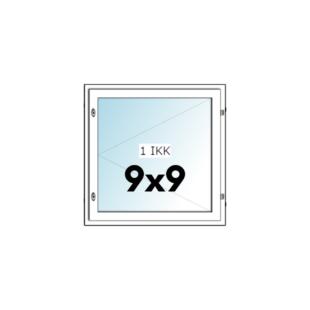 HIT-Nordic ALU 9x9 avattava ikkuna - Ovikauppa.com