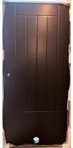 Varaston ovi Kaskipuu VO2 oikea ruskea, venttiili - Ovikauppa.com