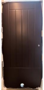 Varaston ovi Kaskipuu VO2 vasen ruskea, venttiili - Ovikauppa.com